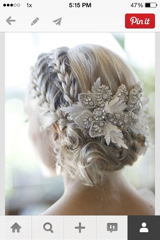 jewels hair accessory prom beauty braid wedding hairstyles wedding accessories