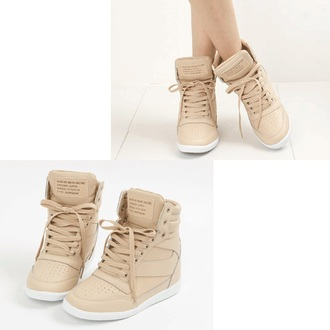 beige shoes shoes wedges beige sneakers wedge sneakers wedge high top sneakers high top sneakers