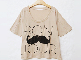t-shirt moustache swag vintage the t-shirt