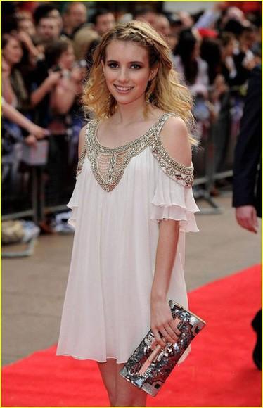 beaded homecoming dress emma robertson gorgeous hoco creme dress