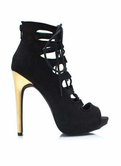 Contrasting-Corset-Heels BLACK PURPLE - GoJane.com
