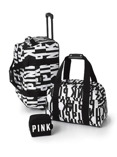 bag victoria's secret bag style swag travel bag travel pink by victorias secret weekend escape