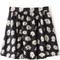 Dark blue daisy print flared skirt