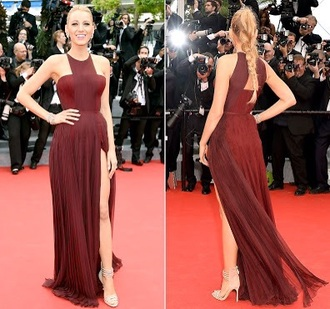 dress burgundy blake lively