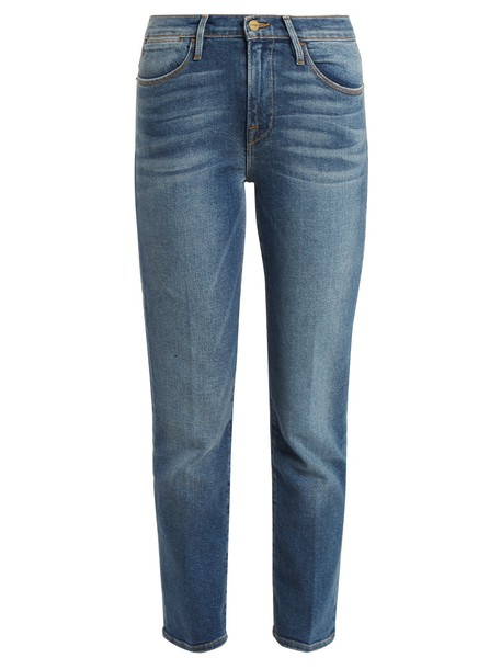 FRAME jeans high blue