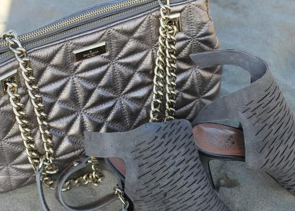 bag handbag zipper gold