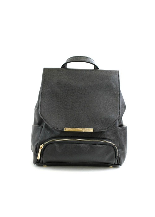 Bailey black leather backpack