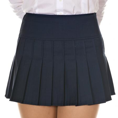 Womens Ladies Solid Pleated Mini Skirt Schoolgirl Cheerleader Sailor Preppy Look | eBay