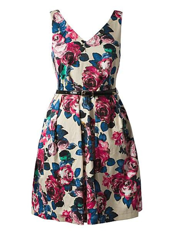 dress closet v front and back floral dress floral dress
