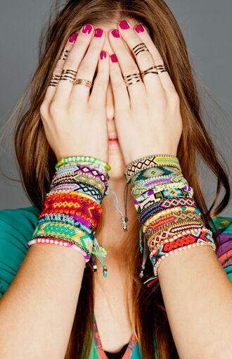 jewels colorful bracelets