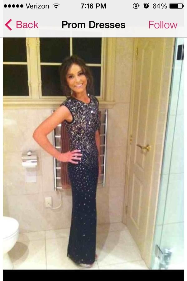 dress prom dress black glitter sequins black prom dress long prom dress