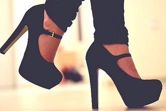 shoes high heels straps