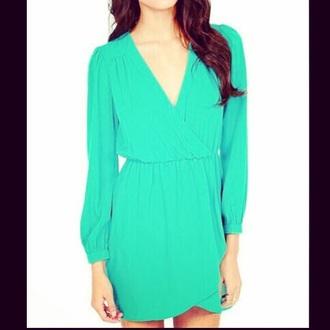 dress summer dress green dress