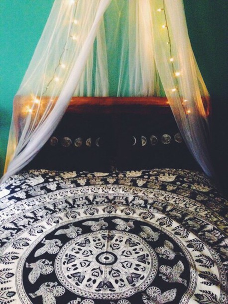 Bedding, Black, White, Bedding, Tumblr, Moon, Boho, Tapestry, Home  Accessory, Elephant, Bedding, Mandala, Mandala Printed Tapestry, Animal  Printed, ...