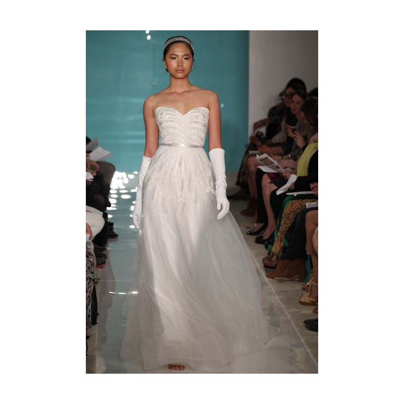 Reem Acra - Spring 2013 - Luzerne Strapless Beaded Tulle A-Line Wedding Dress with Sweetheart Neckline - Stunning Cheap Wedding Dresses|Prom Dresses On sale|Various Bridal Dresses