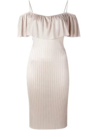 dress pleated dress pleated nude
