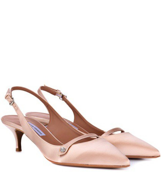 tabitha simmons back pumps satin pink shoes