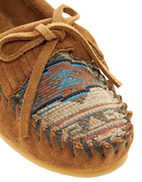 Minnetonka el paso ii brown suede moc shoes at asos