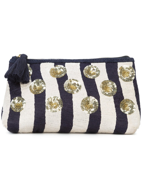 Figue women pouch cotton blue bag