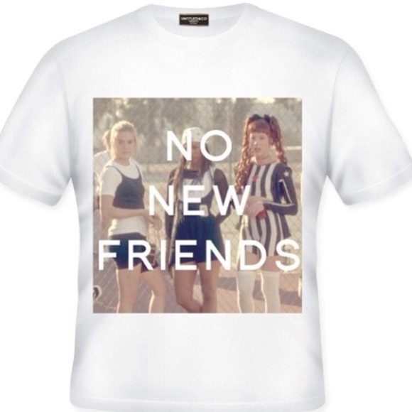 friends t-shirt clueless no new no new friends