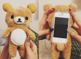 stuffed animal case for iphone 4/4s/5 pastel phone case phone cover iphone case iphone bear big teddy bear teddy bear phone cover fluffy iphone 6 case teddy phone case