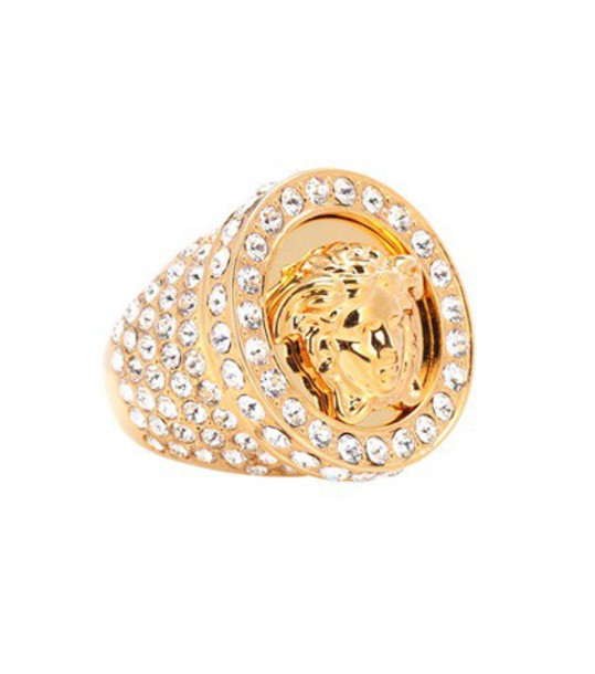 VERSACE embellished ring gold jewels