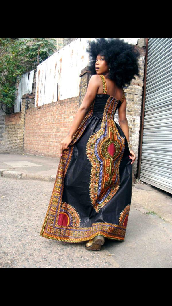 dress african print maxi dress