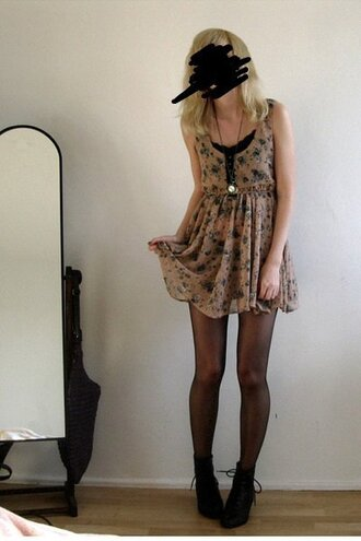 dress brown dress liberty