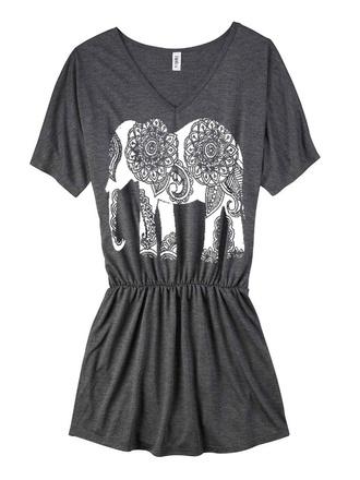 dress t-shirt dress beach holidays blogger celebrity elephant aztec indie boho summer casual