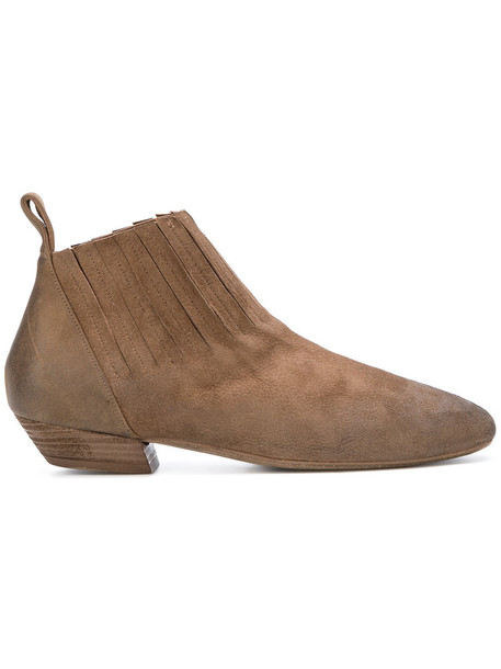 Marsèll women ankle boots leather brown shoes