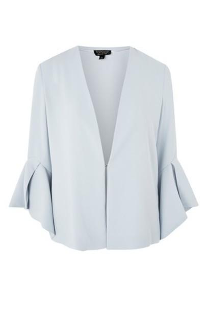 Topshop blazer pale blue jacket