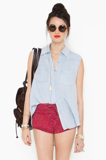 Denim dazed shirt in  collections blinded by the light at nasty gal