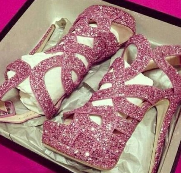 shoes glitter shoes pink high heels party shoes