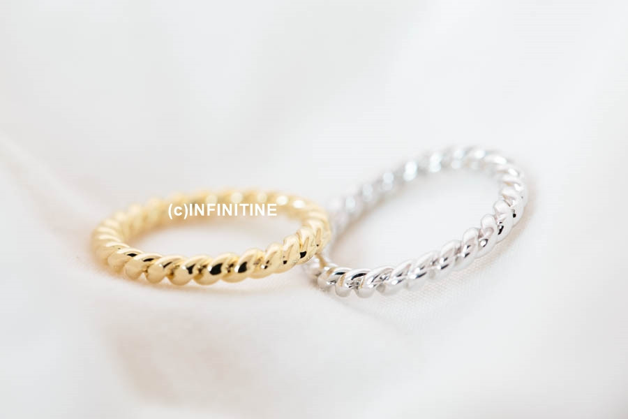 Simple more thick twisted knuckle ring,rn2523