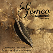 jewels,pendant,designer jewelry,fashion pendant,feathers,silver,jewelry,necklace,carved,diamond pendant necklace\,gemco,gemco international