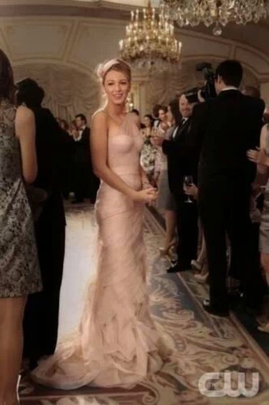 dress serena van der woodsen gossip girl gown