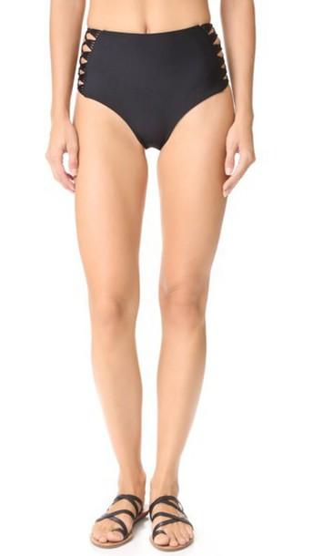 Mikoh Gold Coast High Waisted Bikini Bottoms - Night