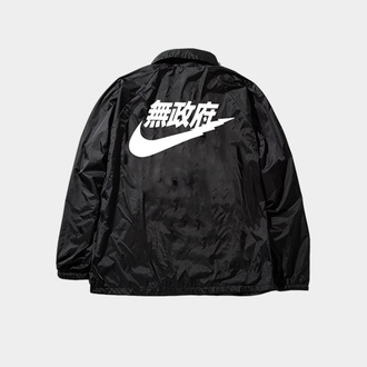 jacket nike bomber jacket nike bomber jacket tumblr tumblr outfit supreme bape nike air kanji black