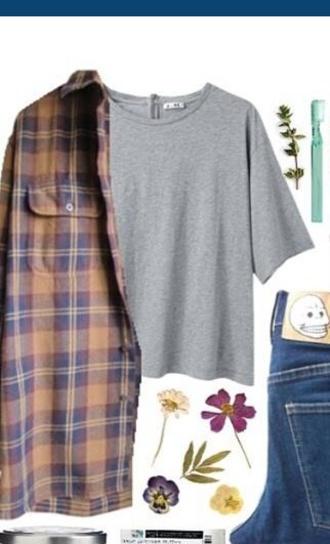 blouse grey t-shirt cardigan