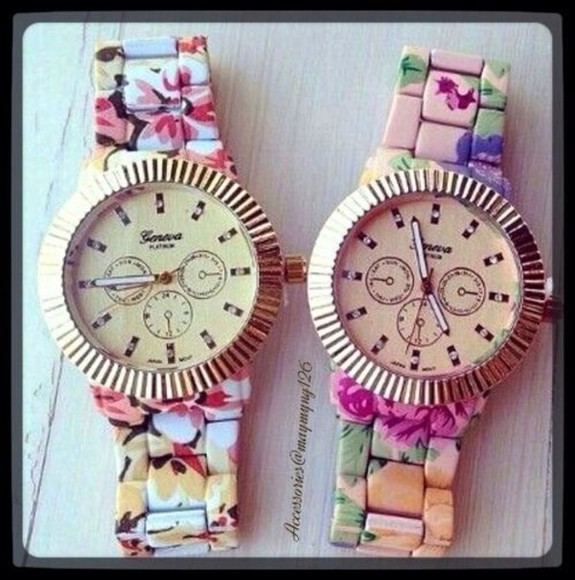 dress rose gold gold watch watches retro beautiful floral women watches clock clocks hourglass vintage kawaii cute
