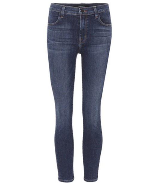 J BRAND jeans skinny jeans cropped blue