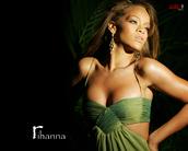 rihanna,green dress,dress