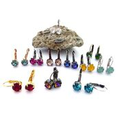 swarovski,earrings,colorful,multicolor,bling,sparkle,summer outfits,fashion accessory