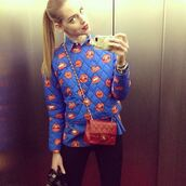sweater,chiara ferragni,blue,shirt,mouth
