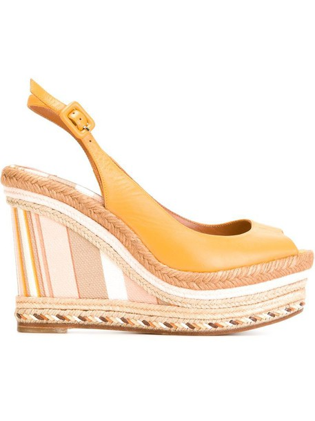 Valentino sandals wedge sandals yellow orange shoes