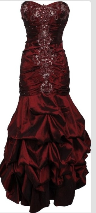 dress red sparkes grad fitted