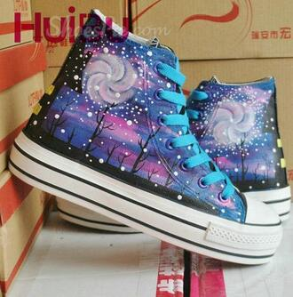 shoes galaxy galaxy sneakers sneakers summer style party casual grunge tumblr hipster boho bohemian vogue chanel internet platform shoes