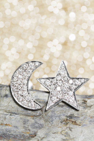 jewels stud earings diamonds diamond earrings moon and star jewelry diamond jewelry silly shiny diamonds stud earrings diamond stud earrings