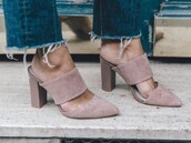 shoes,pink,sandals,high heel sandals,suede mules,pointed toe sandals,summer,suede,suede mule