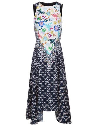 dress midi dress midi floral navy print